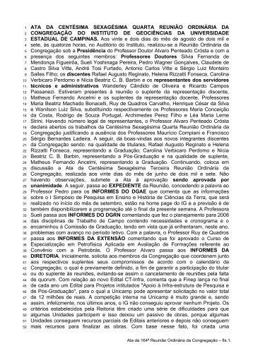 164ª Reunião Ordinária, realizada em 22/08/2007