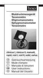 Blutdruckmessgerät Tensiomètre Sfigmomanometro ... - Boso