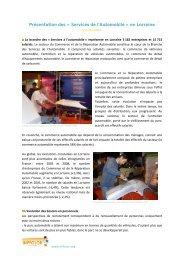 Présentation des « Services de l'Automobile » en Lorraine - Inffolor
