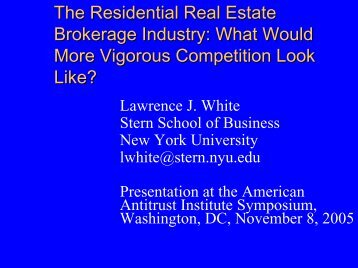 How Would Increased Competition Affect Residential Real Estate