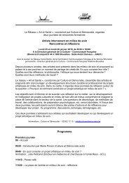 Intervenant artistique en milieux de soins - Culture & Démocratie
