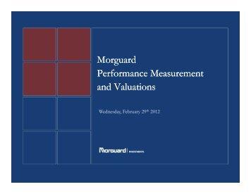 Morguard Performance Performance Measurement Measurement and ...