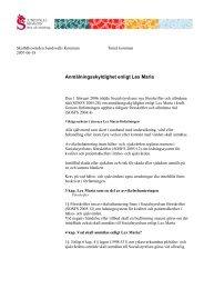 Anmälningsskyldighet enligt Lex Maria - Sundsvall