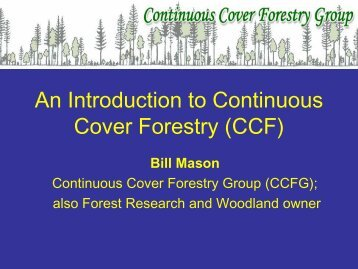 An Introduction to Continuous Cover Forestry (CCF)