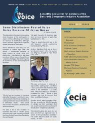A monthly newsletter for members of the Electronic ... - ECIA