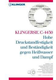 KLINGERsil C 4430 - Klinger Dichtungstechnik GmbH & Co. KG