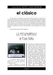 el clásico LA METAMORFOSIS de Franz Kafka
