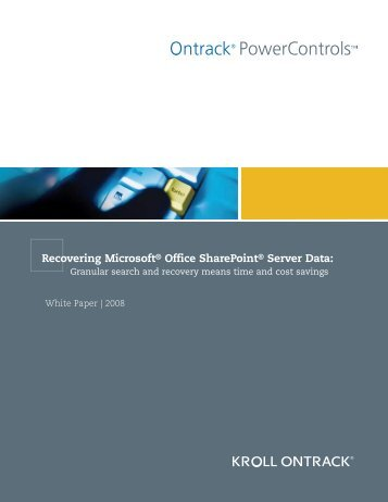 Recovering Microsoft® Office SharePoint® Server Data: - Ontrack ...
