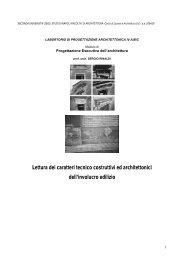 Lettura dei caratteri tecnico costruttivi ed architettonici dell'involucro ...