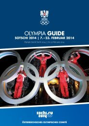 Download Olympia Guide - Österreichisches Olympisches Comité
