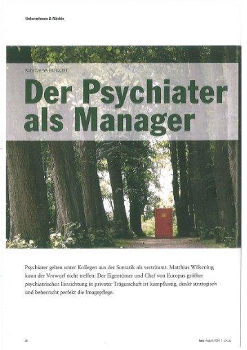 Der Psychiater als Manager - Sieverling, Nicola