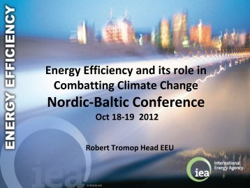 Energy Efficiency and its role in Combatting Climate ... - Rohevik