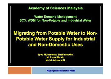 Migrating from Potable Water to Non-Potable Water Supply for ...