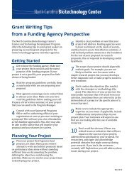 Grant Writing Tips from a Funding Agency Perspective