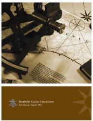 2007 Second Quarter Report - Humboldt Capital Corporation
