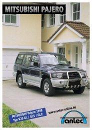 MITSUBISHI Pajero 1998 Typ V20 GL / GLS / GLX www.antec ...