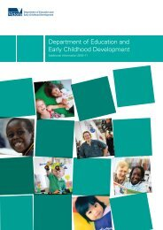 Additional information (PDF - 366Kb) - Department of Education and ...
