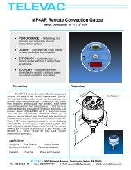 MP4AR Remote Convection Gauge - Televac
