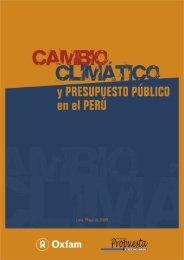 Cambio climático y presupuesto público en el Perú - Grupo ...