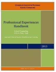 Professional Experiences Handbook - College of Education