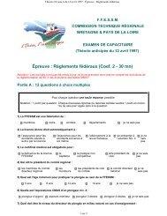 Épreuve : Règlements fédéraux - Commission technique régionale ...