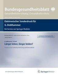 Bundesgesundheitsblatt - Universität Rostock