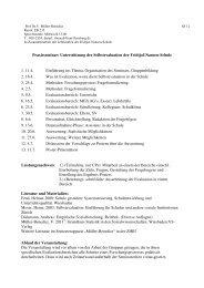 Unterstützung der Selbstevaluation der Fridtjof-Nansen-Schule 1 ...