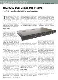 TECHNOLOGY - RTZ Professional Audio