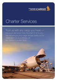 Charter Services - Singapore Airlines Cargo