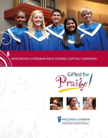 Brochure PDF - Wisconsin Lutheran High School