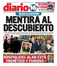 ROSPIGLIOSI: ALAN ESTÁ FRENÉTICO Y FURIOSO - Diario 16