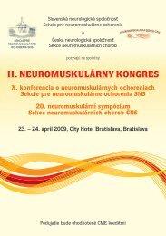 II. NEUROMUSKULÁRNY KONGRES - Solen