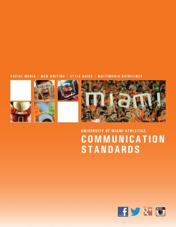 Communication Standards - University of Miami Athletics