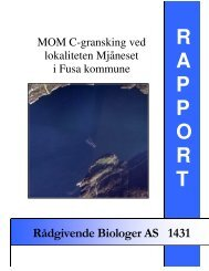 MOM C - RÃ¥dgivende Biologer AS