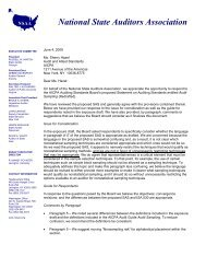 NSAA responds to an exposure draft of a proposed Statement on ...