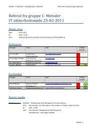 Referat fra gruppe 1: Metoder IT sikkerhedsmøde 25-02-2011