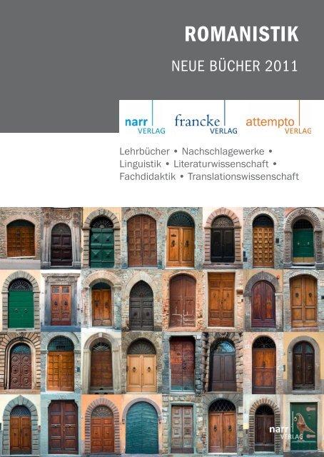 ROMANISTIK - Gunter Narr Verlag/A. Francke Verlag/Attempto Verlag