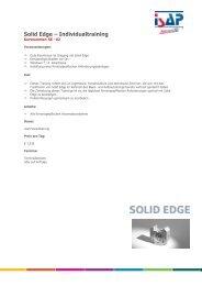 Solid Edge - Individualtraining - ISAP Training - ISAP AG