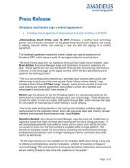 Amadeus and kulula sign content agreement - Investor relations at ...