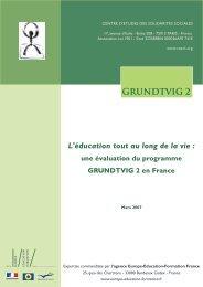 GRUNDTVIG 2 L'éducation tout au long de la vie - Agence Europe ...