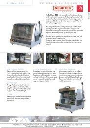 WET ABRASIVE CUT-OFF MACHINES Brillant 200 - Neurtek