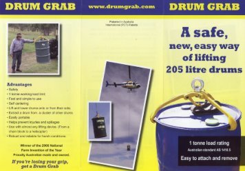 Drum Grab Brochure