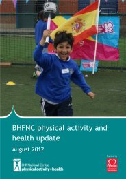 BHFNC physical activity and health update - BHF National Centre ...