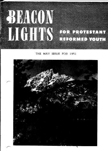 THE MAY ISSUE FOR 1951 - Beacon Lights
