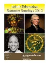 Adult Education Summer Sundays 2012 - Nassau Presbyterian ...