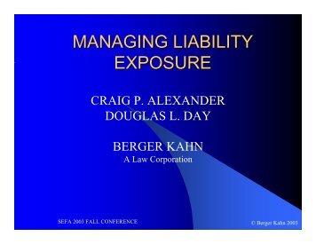Managing Liability Exposure