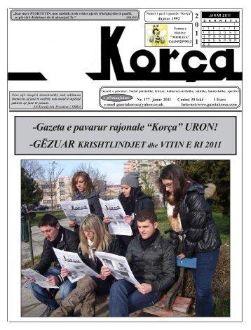 """Janar 2011 - Gazeta """"Korça"""""""