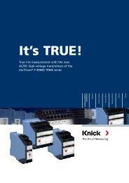Flyer VariTrans® P 40000 TRMS - Knick USA