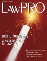LawPRO Mag Vol 5/#2 - practicePRO.ca