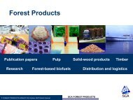 Slide presentation Forest Products - SCA Forest Products AB